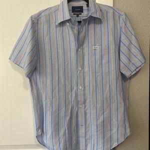 Faconnable Short Sleeve Dress Shirt - Size M